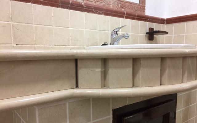 Encimeras de Crema Marfil para el baño