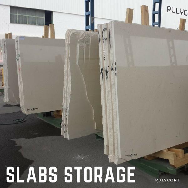 Storage of marble slabs