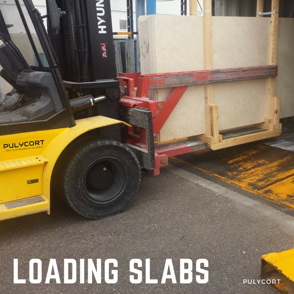marble processing: loading slabs