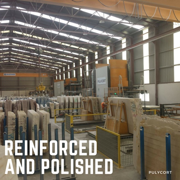 marble processing: reinforced and polished