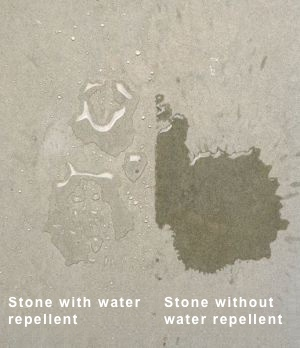 stone with water repellent