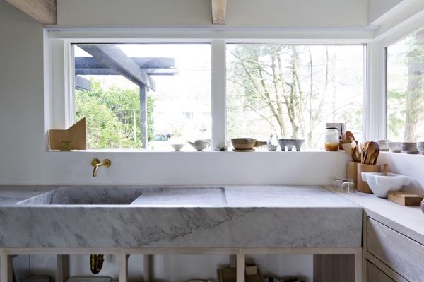 Usos del mármol en la cocina
