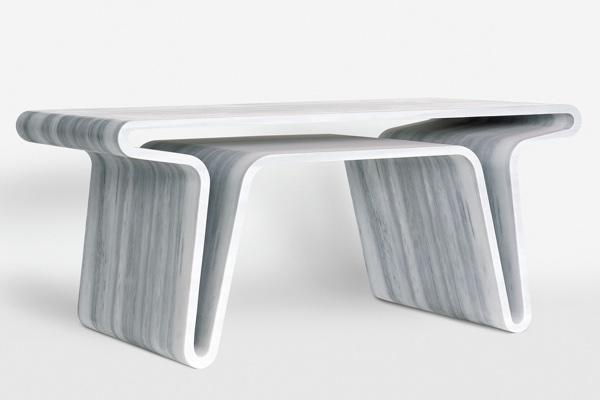 usos del mármol como mobiliario