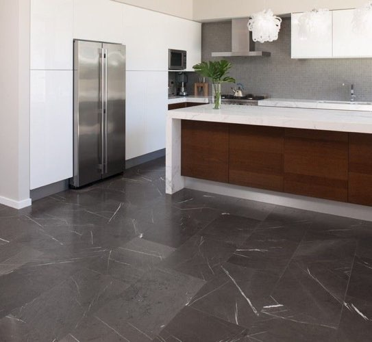 Pietra Grey marble kitchen