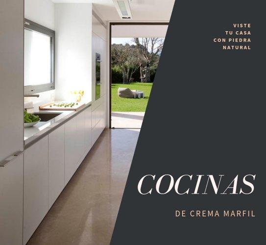 cocinas de Crema Marfil, aplicaciones y ejemplos