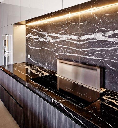 black marble cladding