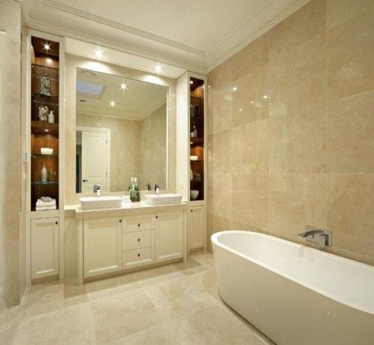 baño de mármol crema marfil