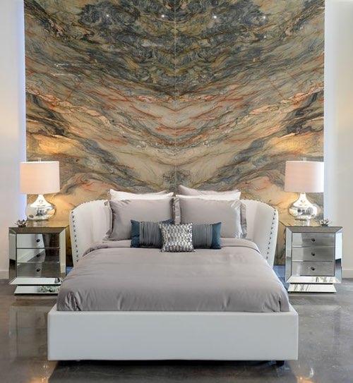 cabezal del dormitorio de mármol