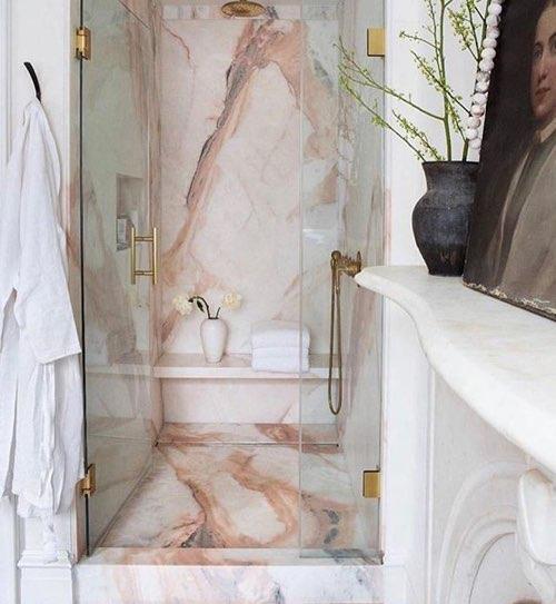 ducha de mármol para el baño