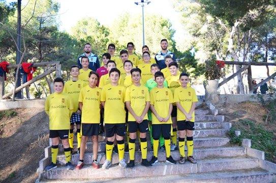equipo de fútbol infantil de la romana