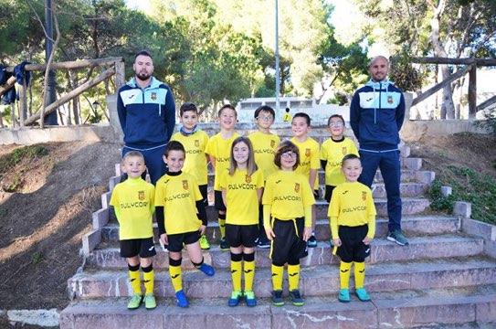 equipo de fútbol prebenjamín de la romana
