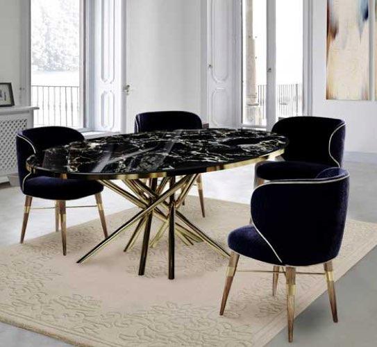 mesa de mármol negro