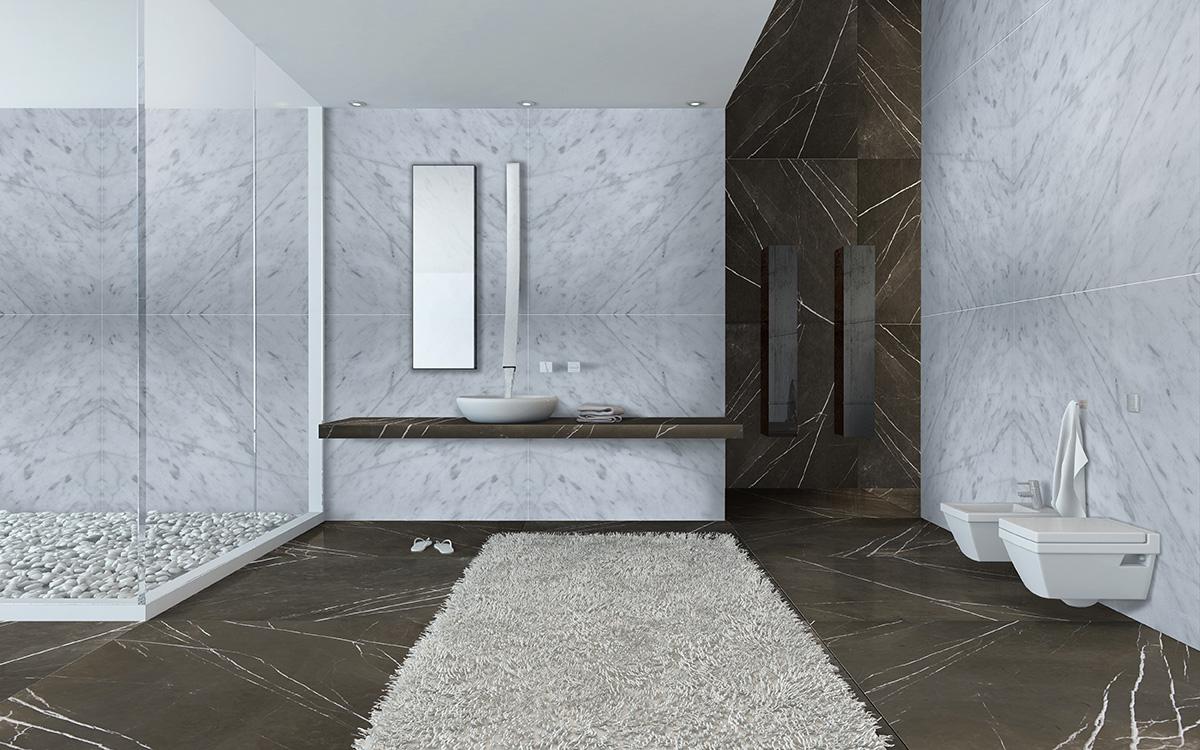 Ambiente creado con mármol
