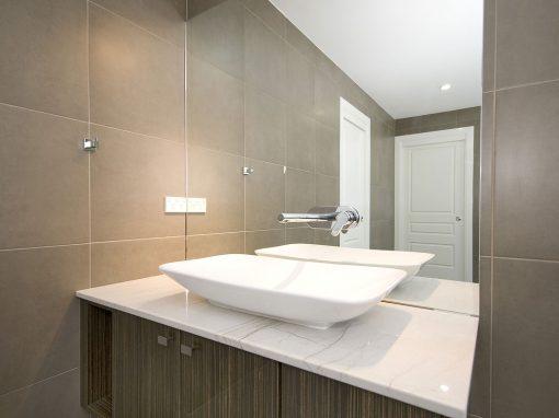 encimera blanco de baño