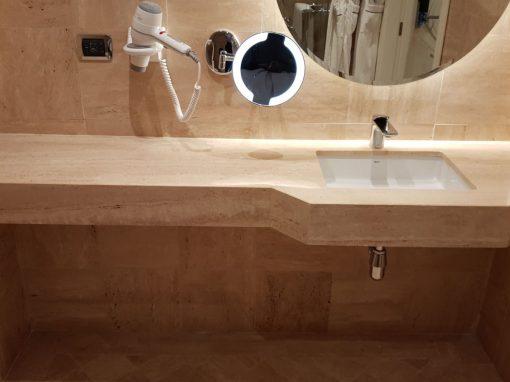 Encimera de travertino para baños