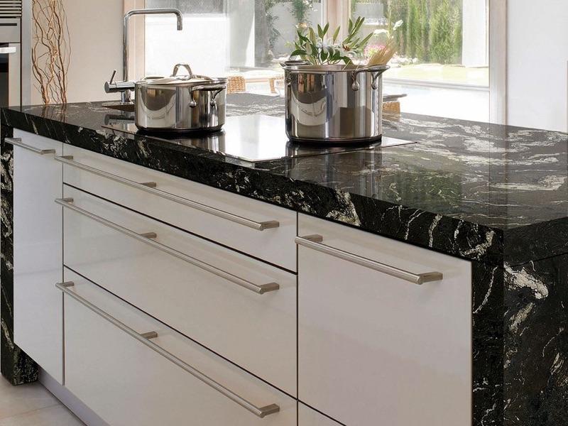 encimera de granito titanium para la cocina