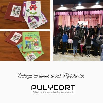 Pulycort hace entrega de libros a sus Majestades de Oriente