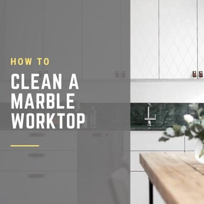 How to clean a marble worktop