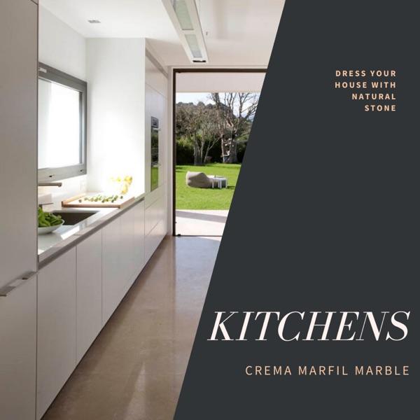 crema marfil marble kitchens