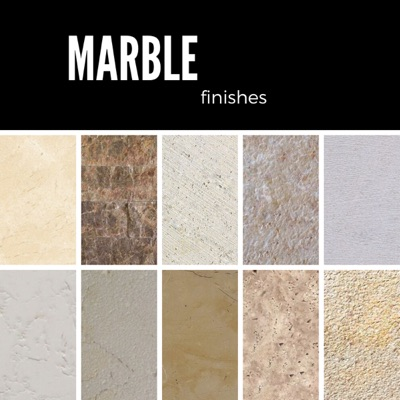 Types of marble finishes