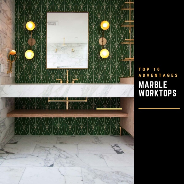 marble bathroom worktops