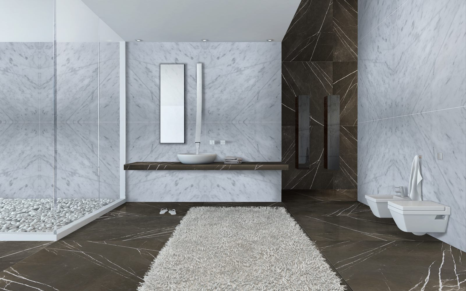 Floor and wall tiles by pietra grey