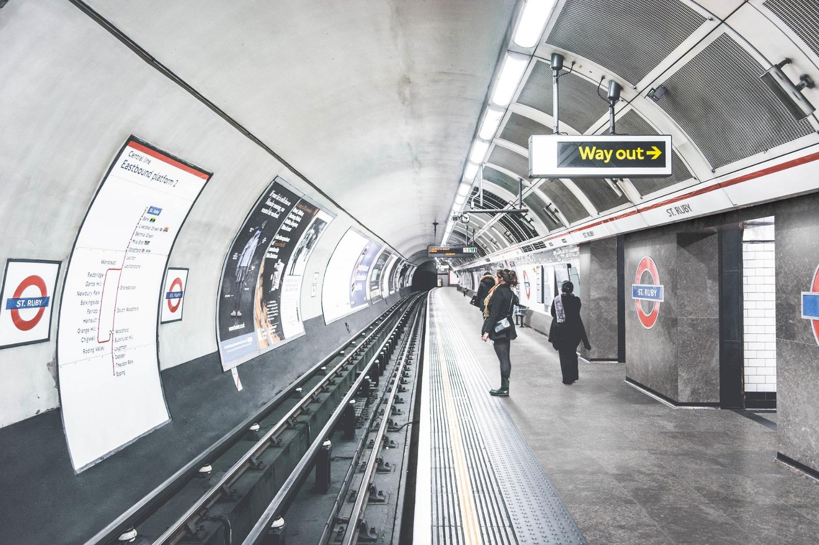 subway flooring made with marengo grey