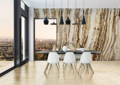 crema marfil marble and travertine onix