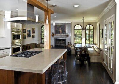 crema marfil marble kitchen worktop