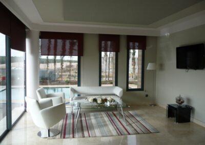 crema marfil marble living room