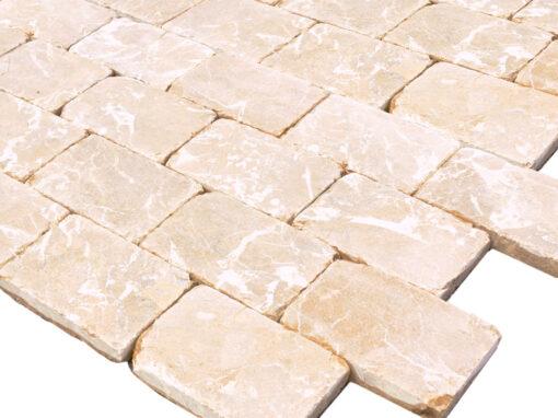 Mosaico de mármol crema
