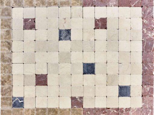 Mosaico de piedra natural