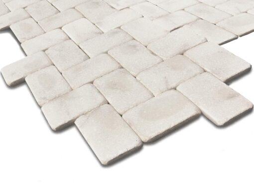 Recreación mosaico mármol blanco