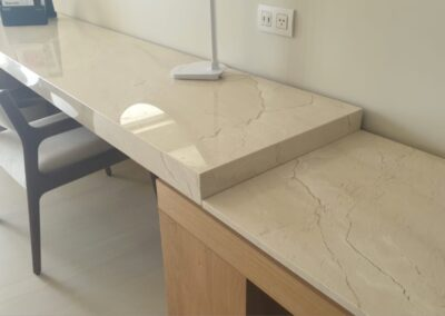 crema marfil marble table hotel barcelo