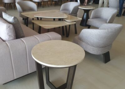 crema marfil marble tables