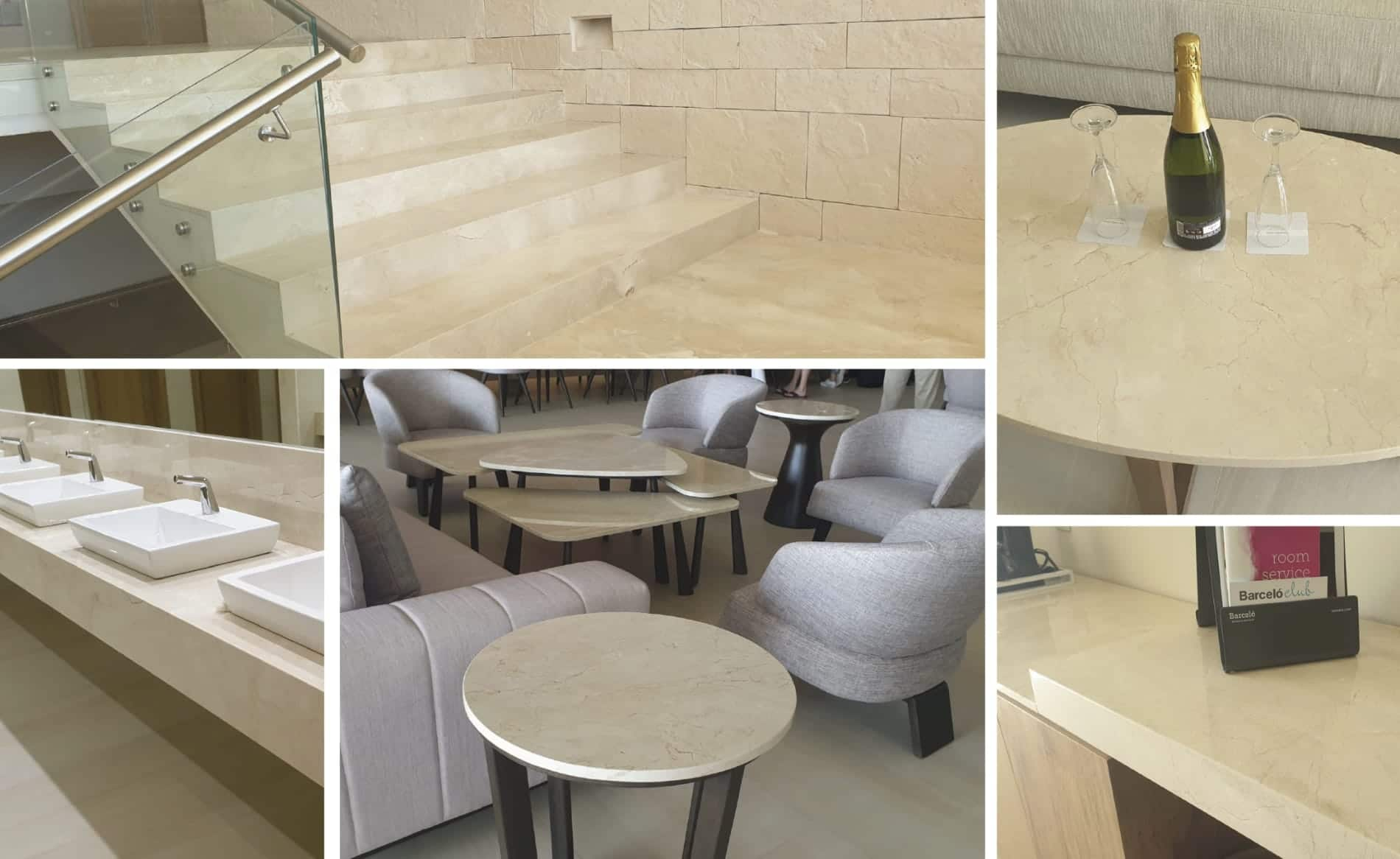 mármol crema marfil - hotel barceló en Cancún