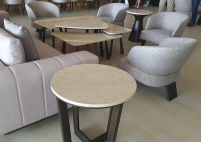 mesas marmol crema marfil
