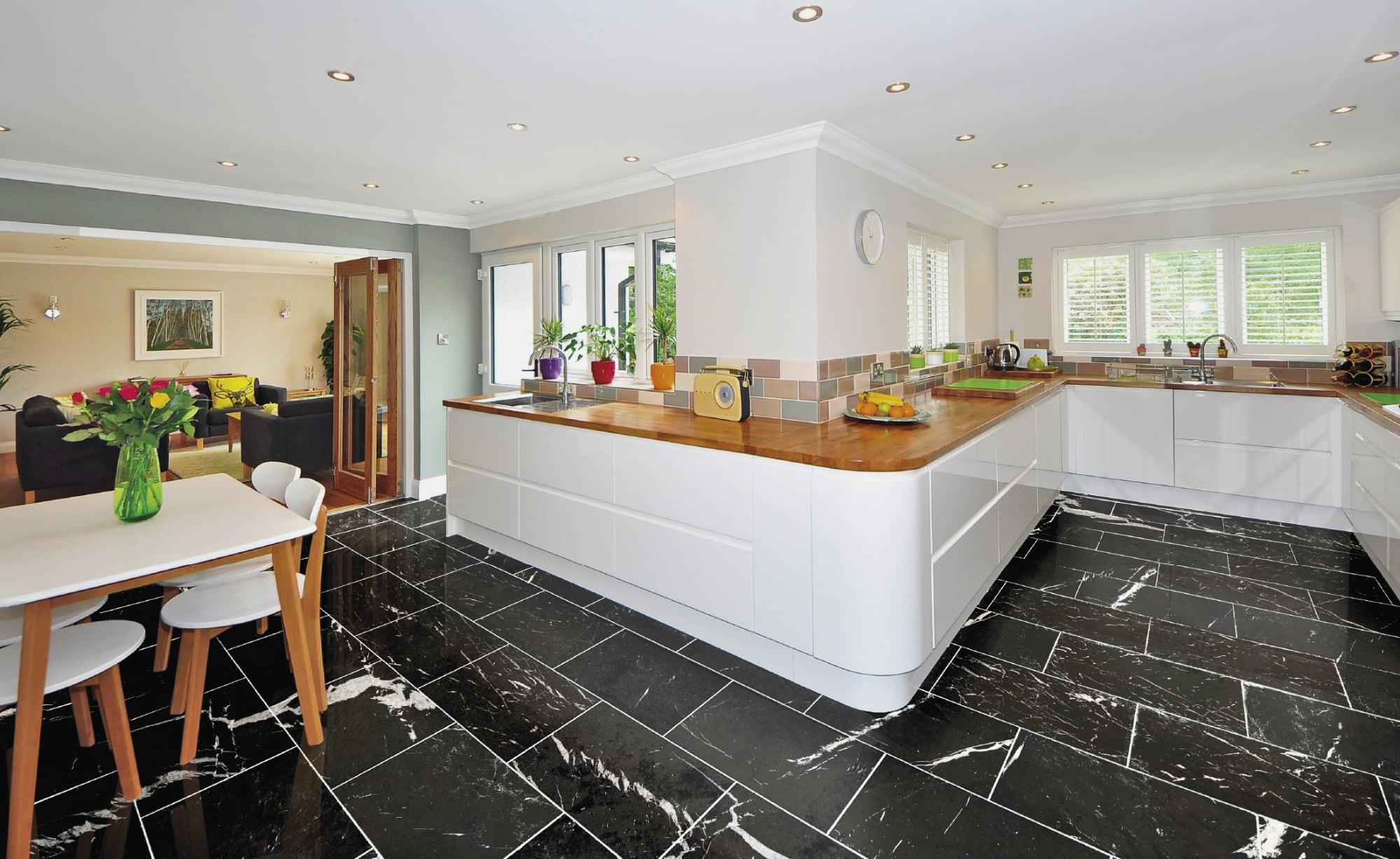 nero marquina marble floor